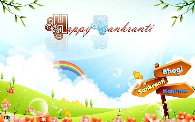 Happy Makar Sankranti Festival with Bhogi,Sankranthi,Kanuma