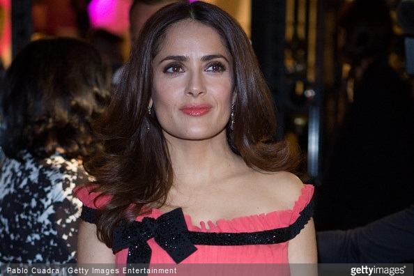 Salma Hayek attends 'Woman Awards' at 'Casino de Madrid' on April 20, 2015 in Madrid, Spain