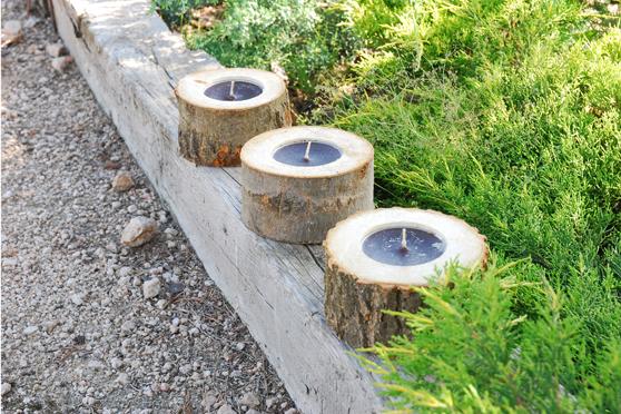 Un toque natural en tu hogar troncos reciclados decorar for Bancos de jardin rusticos
