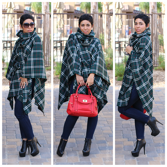 DIY Belted Poncho & Removable Neck Warmer + Pattern Review ...