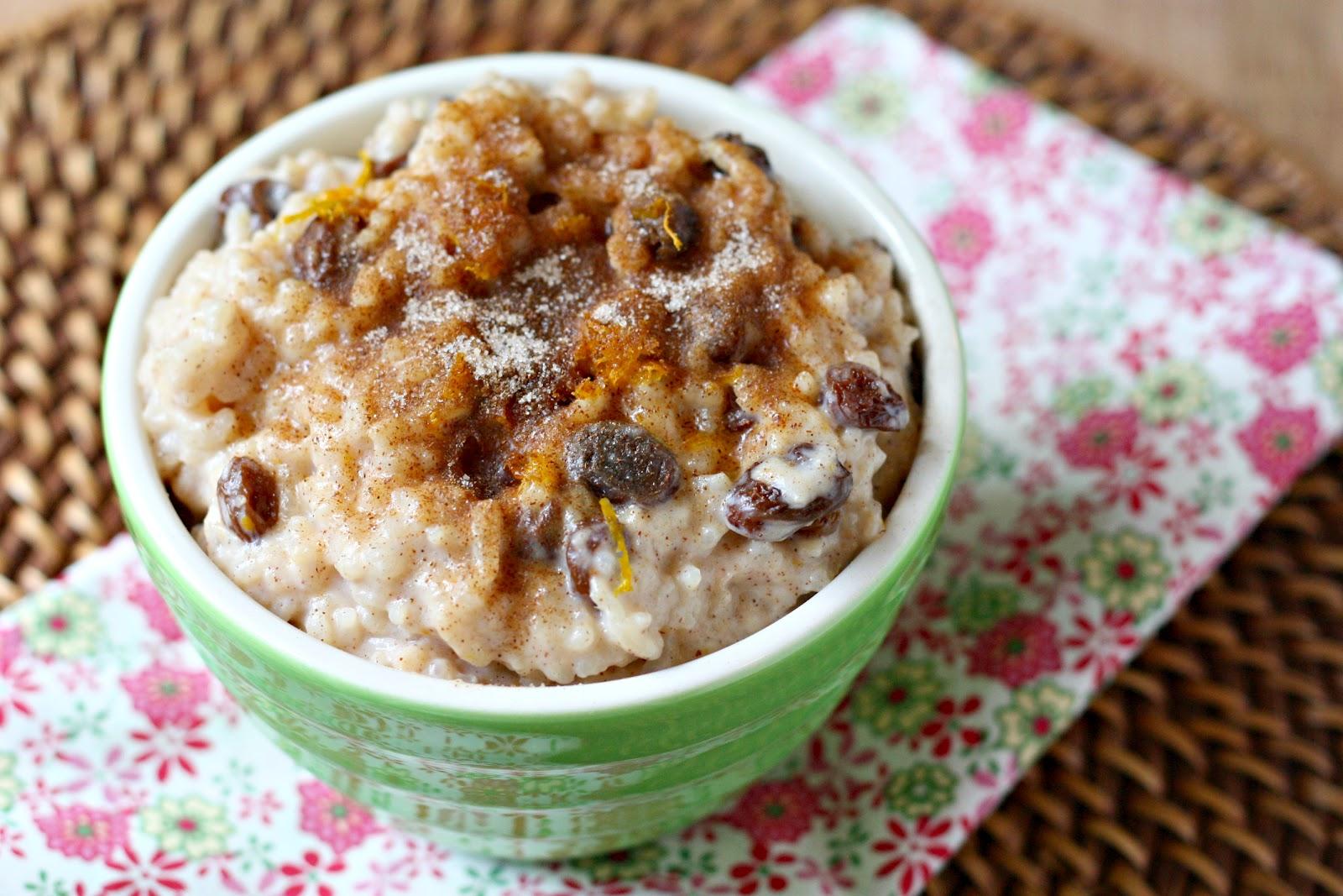 ... ' Kitchen: Cinnamon-Sugar Rice Pudding with Bourbon-Soaked Raisins
