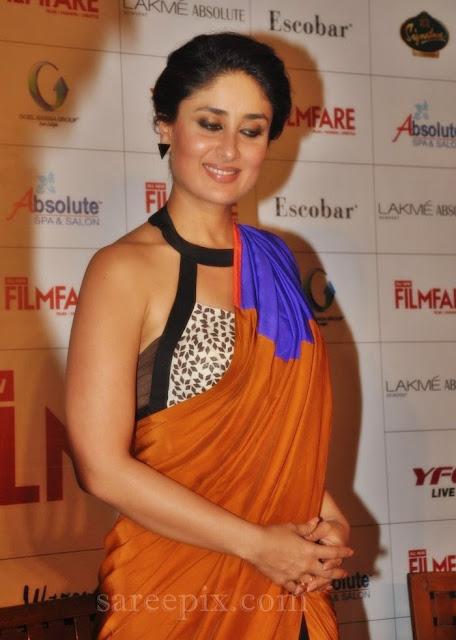 Kareena-kapoor-sleeveless-saree-Filmfare-September-2013-magazine-cover-photo-launch