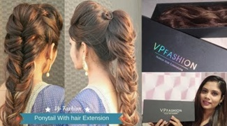 Fishtail Ponytail Hairstyle Using Hair Extension | vp Fashion Human Hair Extension