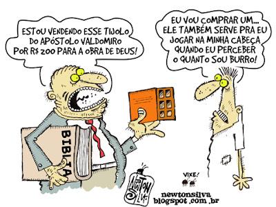 Apóstolo Valdomiro vende Tijolo para 'Obra de Deus' por R$ 200 reais - por humor politico