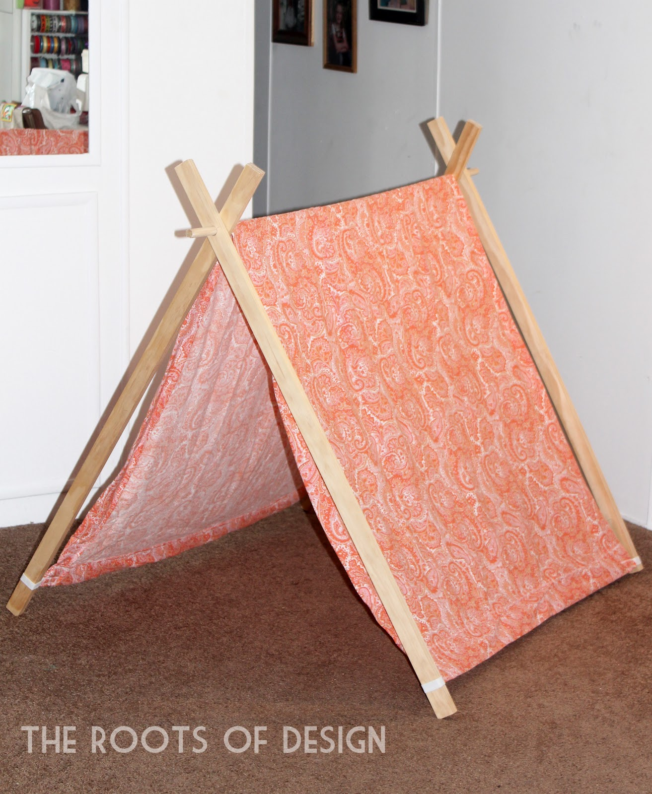 The Roots of Design: DIY A-frame Play Tent