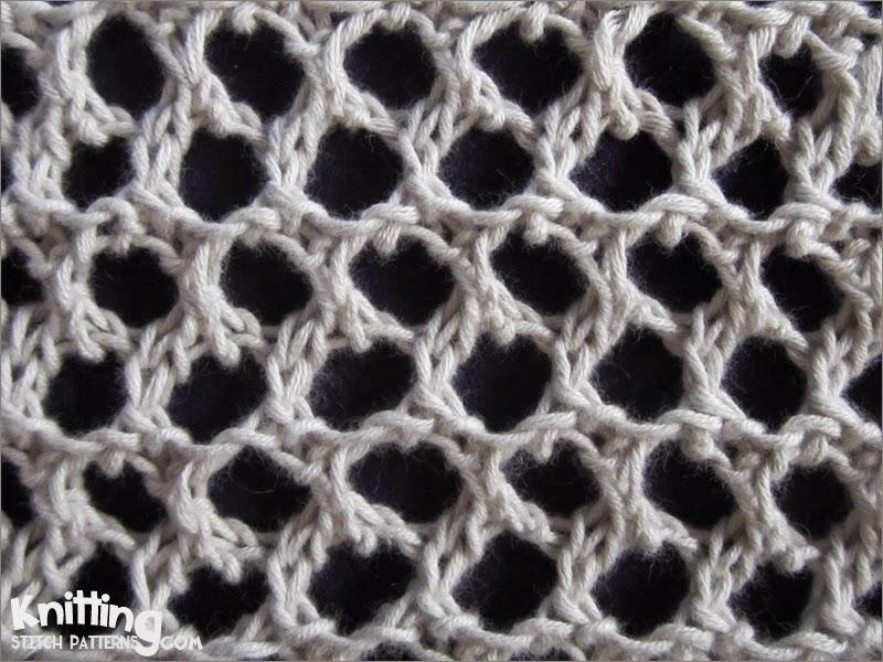 Grand Picot Eyelet Knitting Stitch Patterns