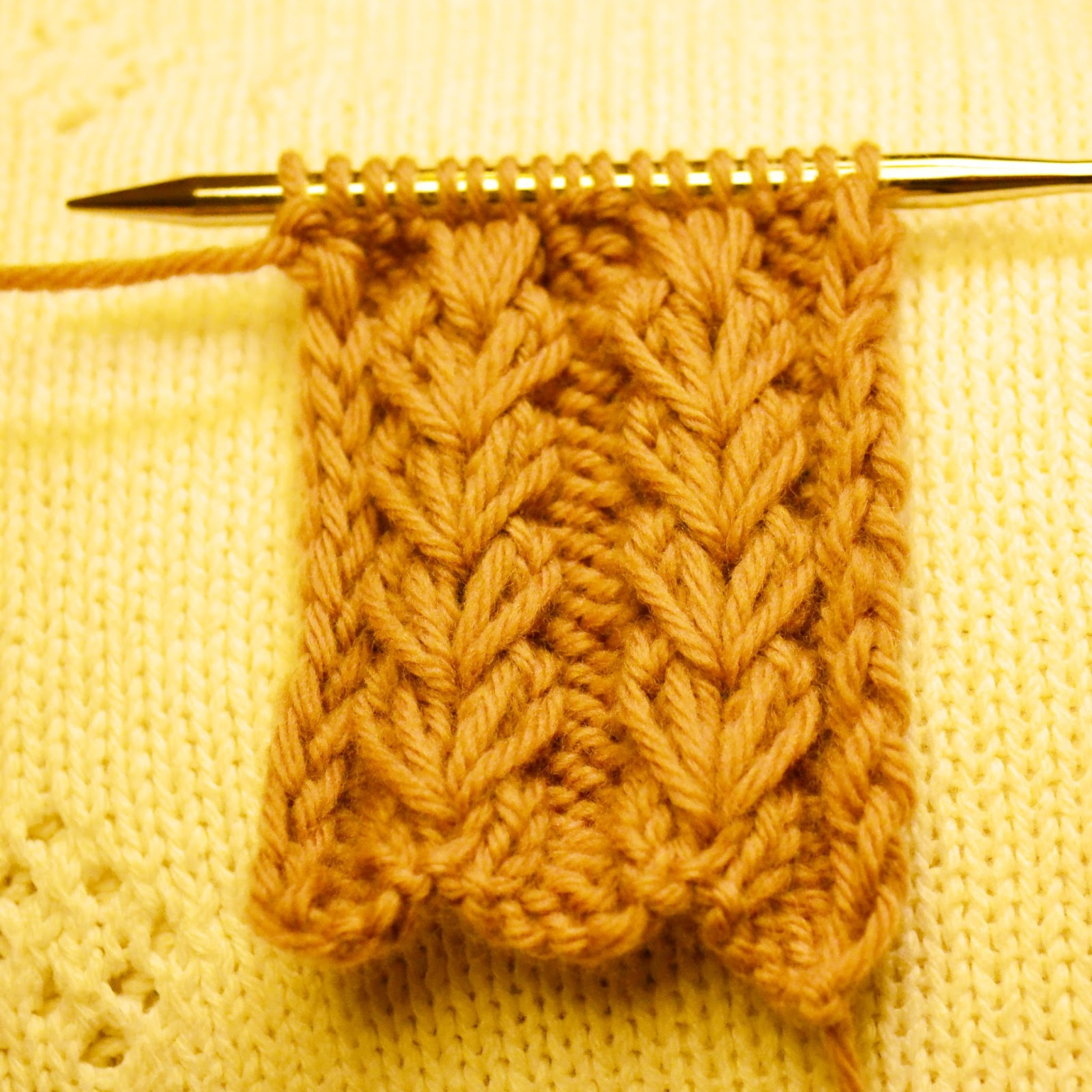 Knitting Rib Stitching : Organized pack rat wheat ear rib stitch knitting