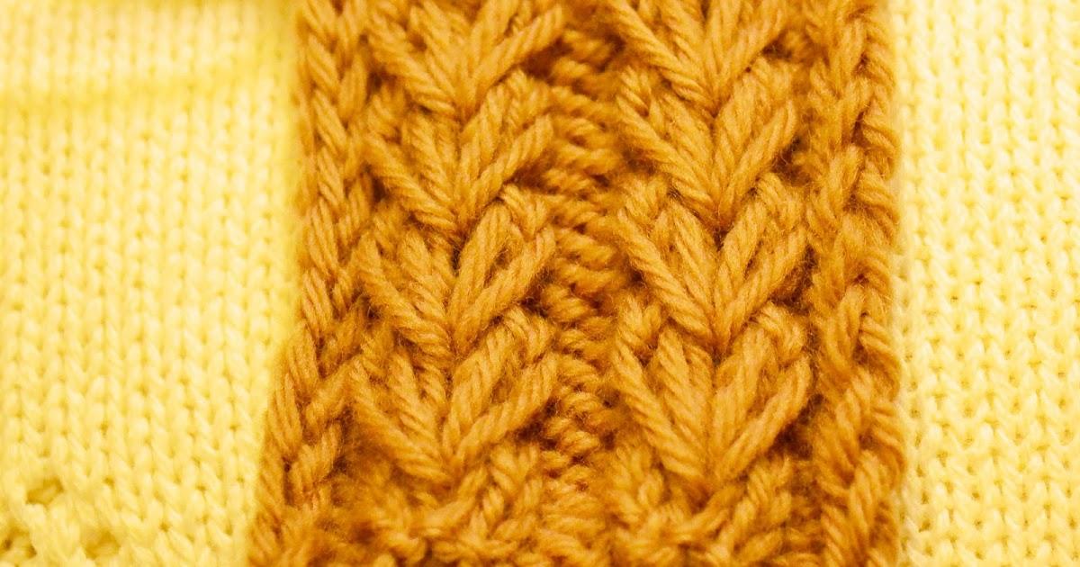 Knit Into Stitch In The Round Below Next Stitch : Organized Pack Rat: Wheat Ear Rib Stitch (Knitting)