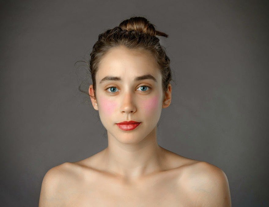 AUSTRALIA - Woman Had Her Face Photoshopped In More Than 25 Countries To Compare Their Beauty Standards