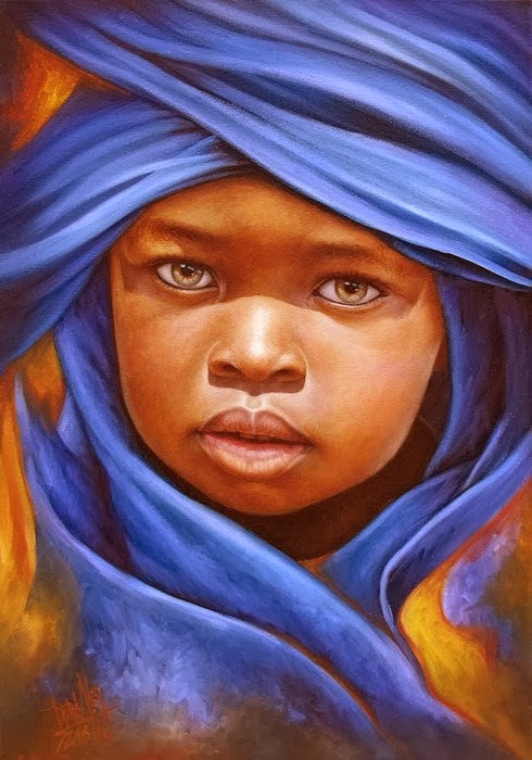 20 Beautiful African Children Paintings By Dora Alis ...
