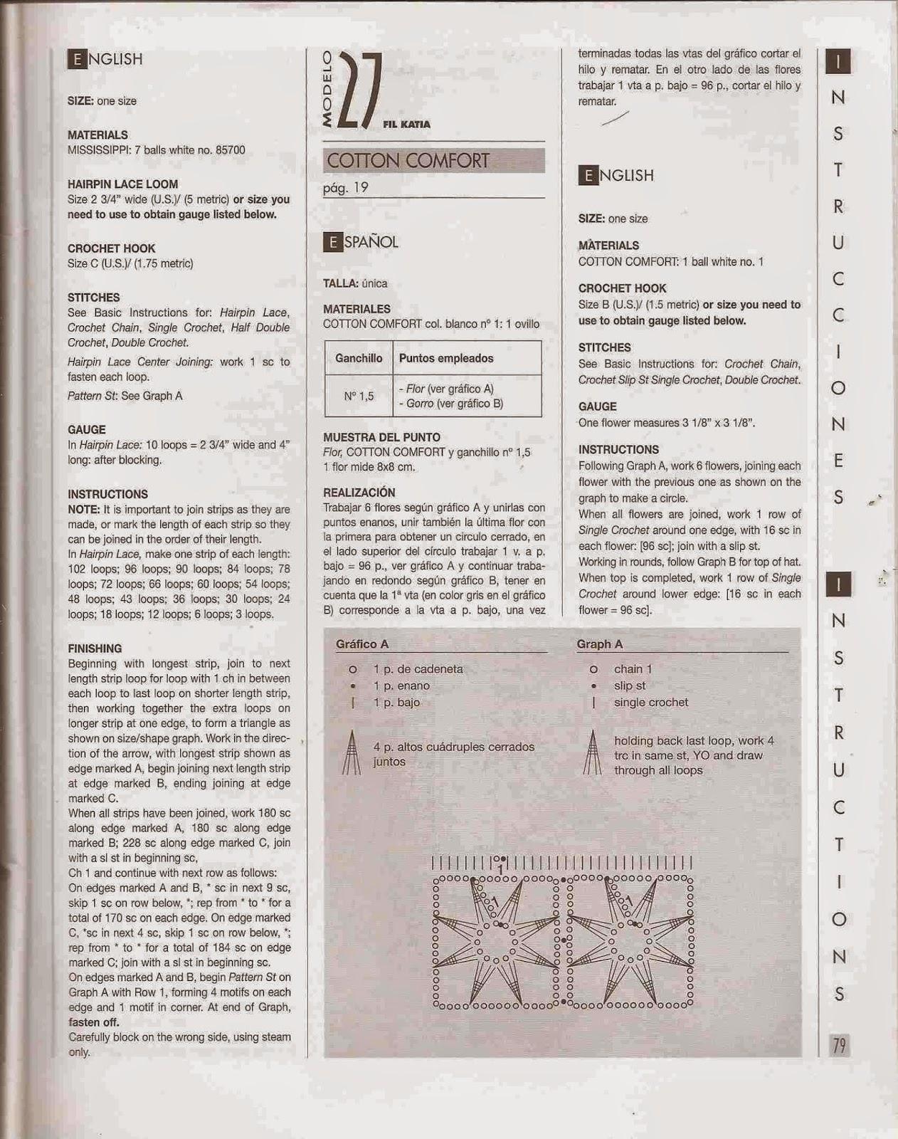 #68 Chal o Poncho Blanco a Crochet