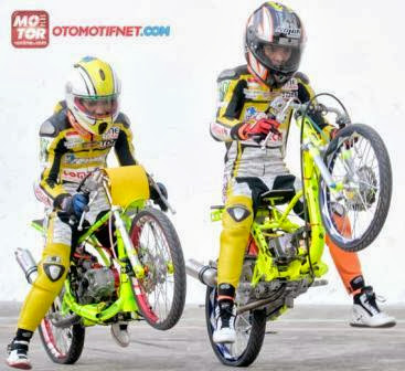 Modifikasi Honda Beat Drag Race