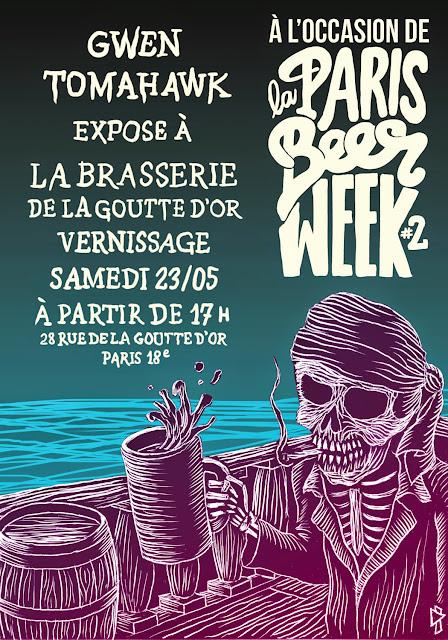 Gwen Tomahawk Expo Brasserie de la goutte d'or Paris Beer Week #2