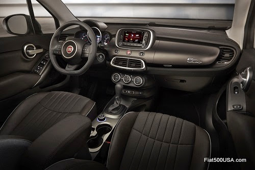 Fiat 500X Lounge Dashboard