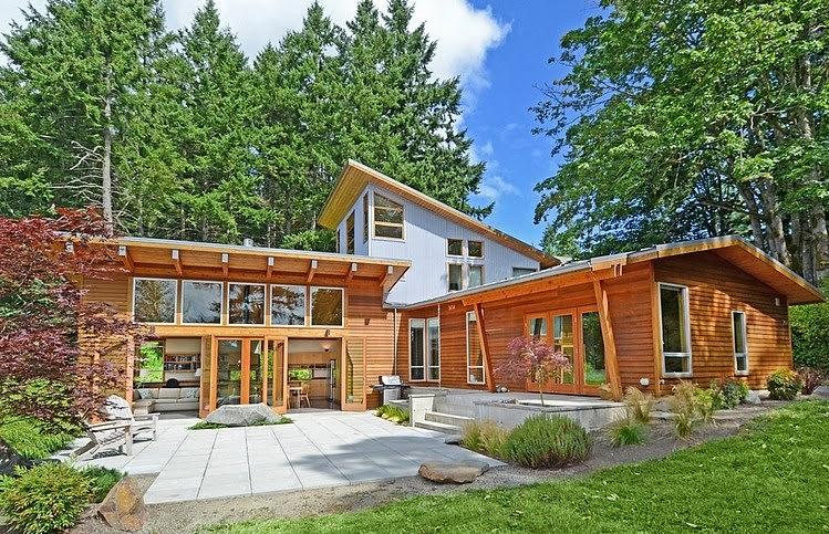 Desain interior rumah kayu minimalis desain denah rumah minimalis desain denah rumah minimalis - Wooden vacation houses nature style ...