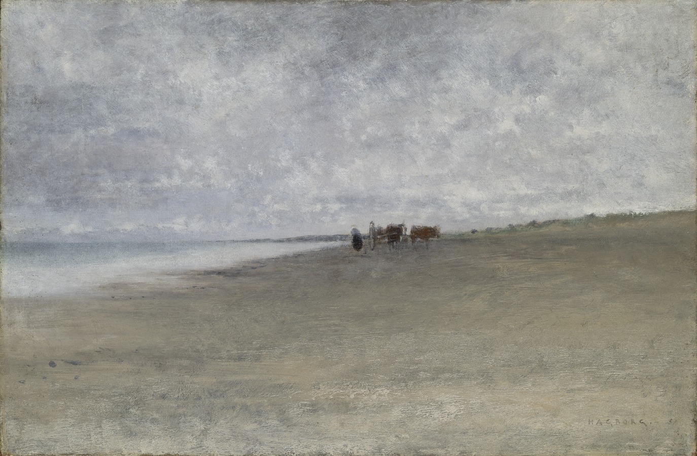 August Hagborg Hazy Weather by the Sea