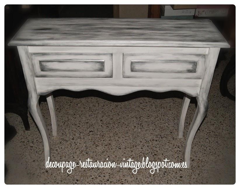 Fuente decoupage tr nsfer restauraci n pintura y otras for Como pintar muebles de pino color blanco