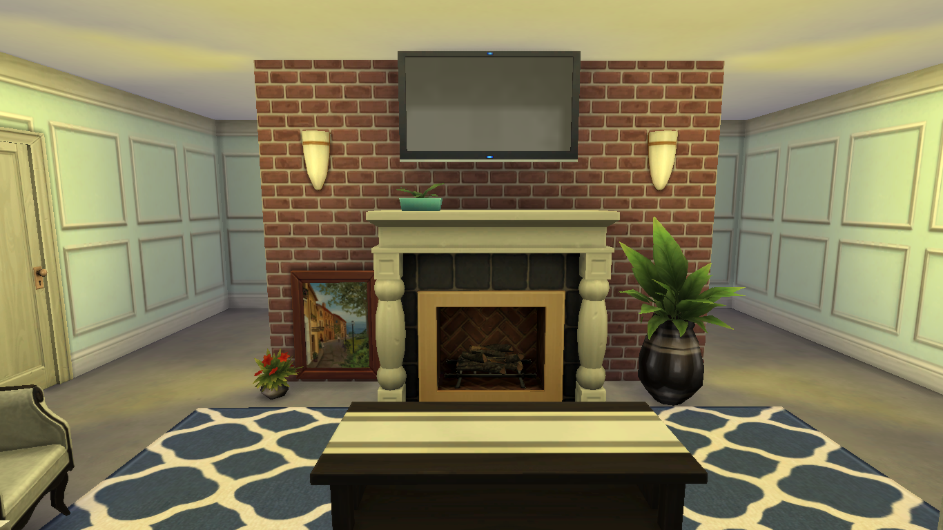 Sims interior design inspirations for Sims 4 living room ideas