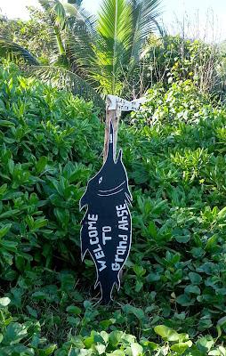 Schild der Grand Anse auf La Digue