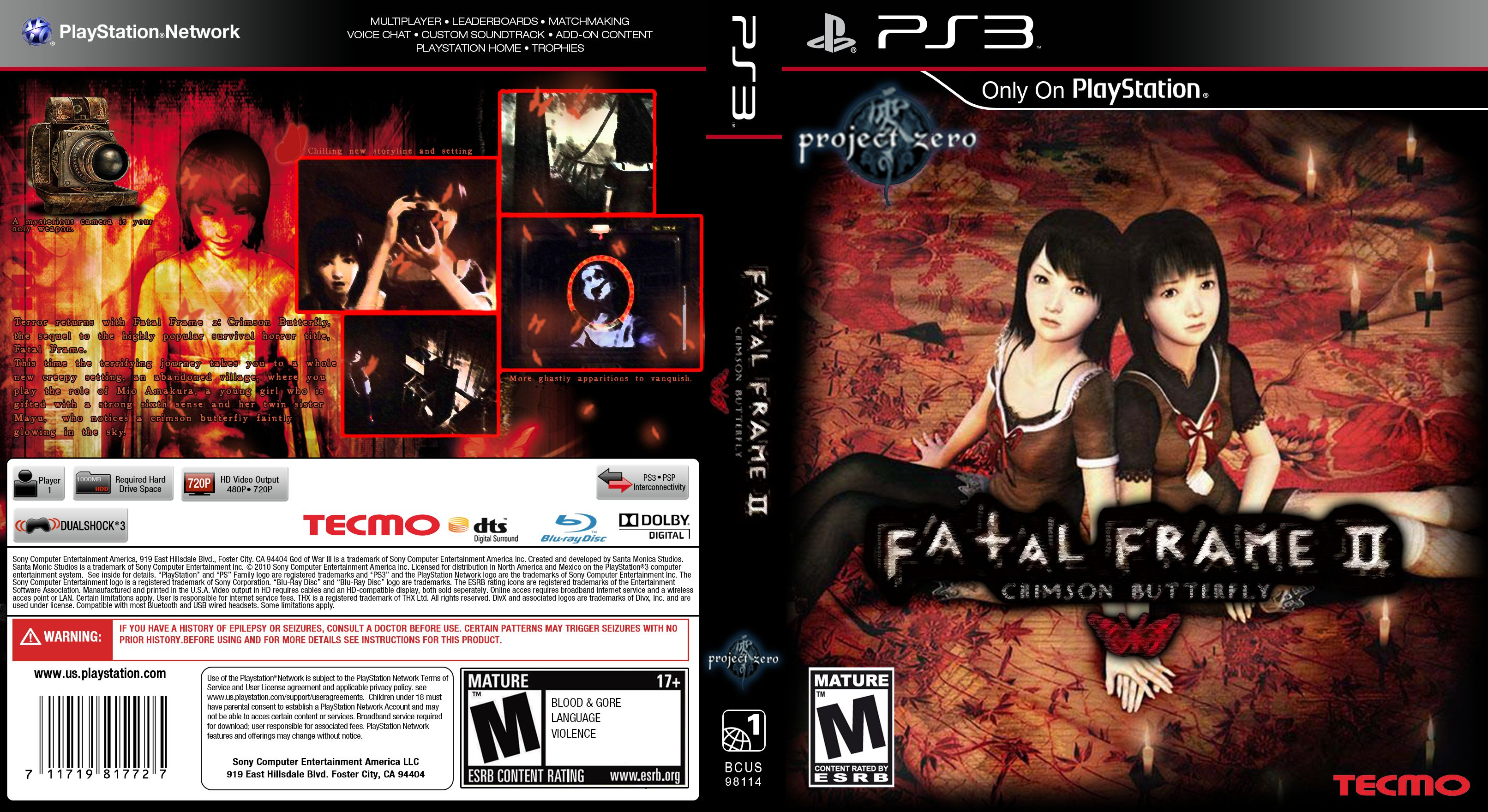 Fatal Frame 2 Crimson Butterfly PS3 COVER | World Cover