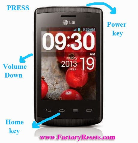 Hard Reset LG Optimus L1 II E410