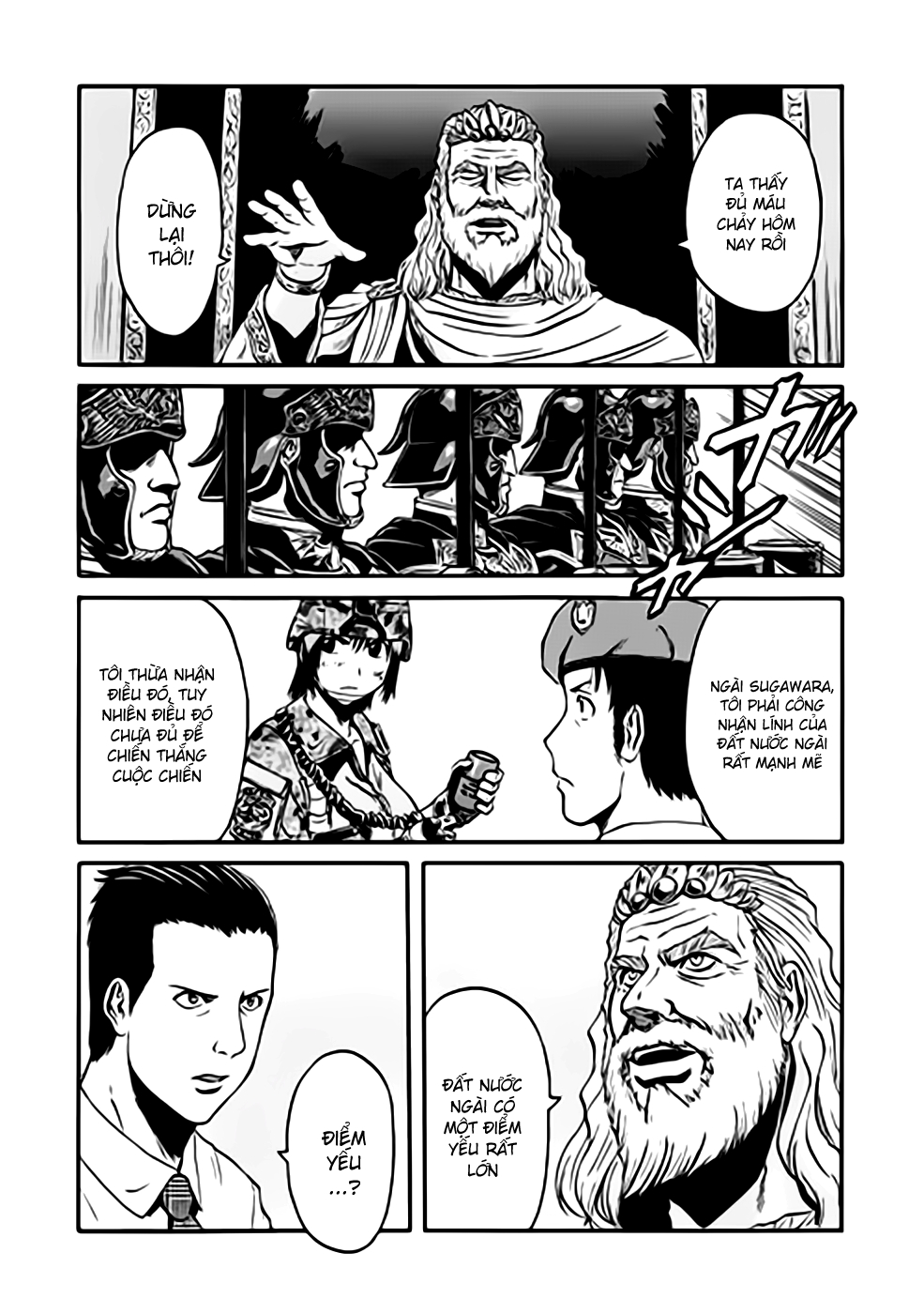 Gate – Jietai Kare no Chi nite, Kaku Tatakeri chap 35 Trang 15 - Mangak.info