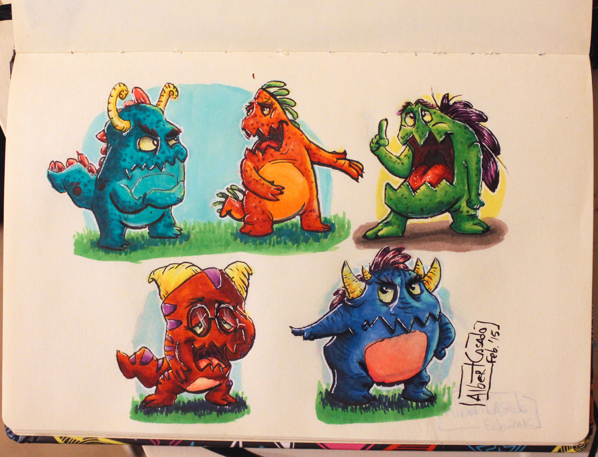'Monstruitos' - Copic marker - (Albert Casado)