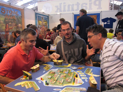 Essen Spiel 2011 Day 3 - Three of the guys in our demo game of Hawaii