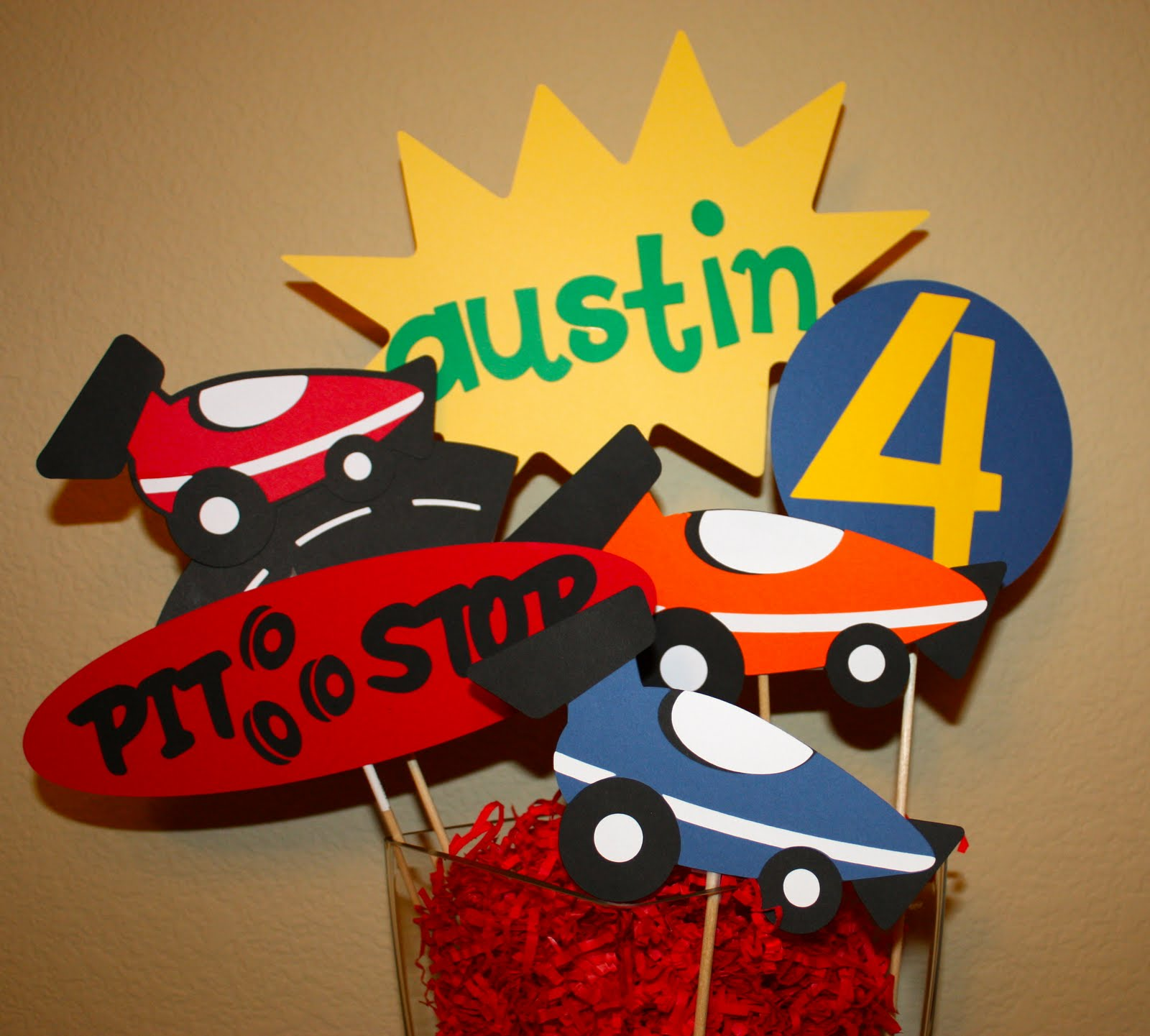 Buggys Basement Race Car Birthday Decorations