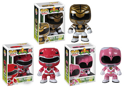 Mighty Morphin Power Rangers Pop! Television Series 1 by Funko - White Ranger, Red Ranger & Pink Ranger Vinyl Figures