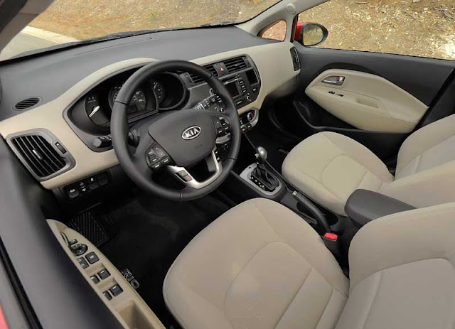 2012 Kia Rio interior - Subcompact Culture