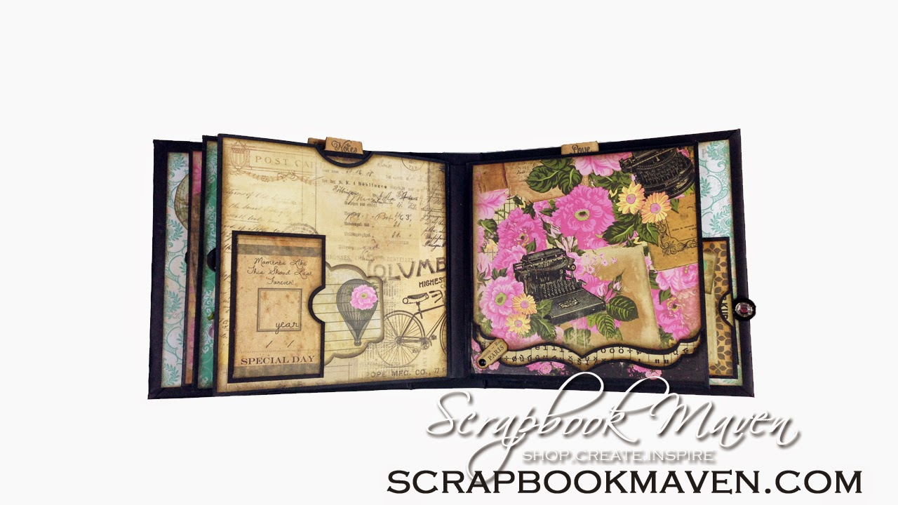 Romance Novel Chapter 2 Kit at ScrapbookMaven.com Mini Album
