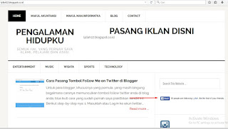 Cara Pasang tombol follow facbook di Blogger
