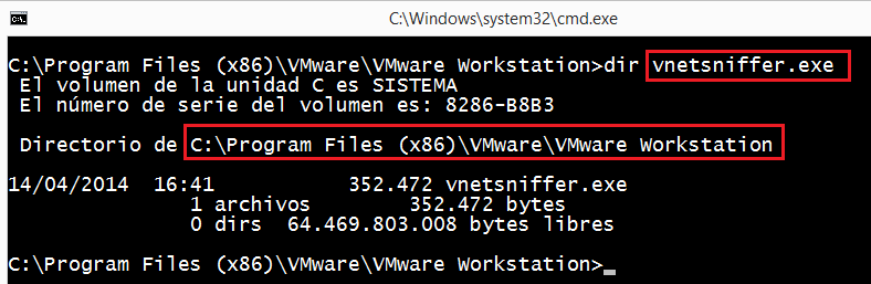 VMWare: VMWare Workstation vnetsniffer