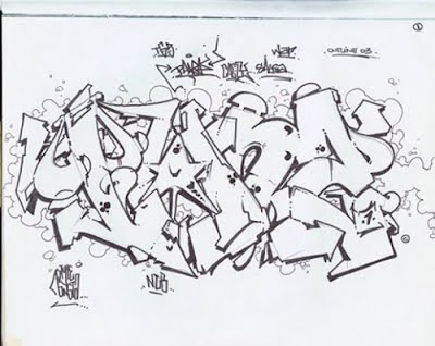 Graffiti Wildstyle Alphabets Sketches 2