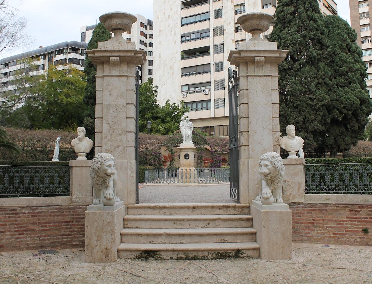 La valencia desaparecida for Jardines de monforte valencia