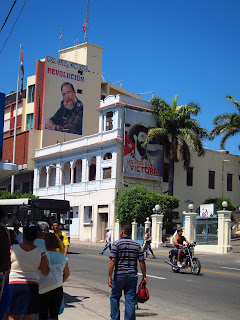 Santiago de Cuba street signs on buildings