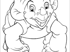 Land Before Time Dinosaur Coloring Pages