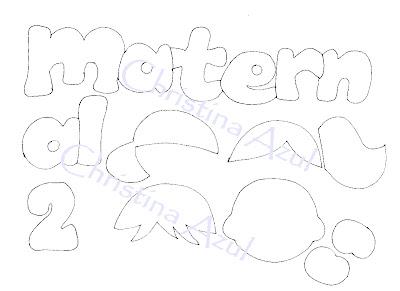 """Placa de porta em EVA """"Maternal"""" + molde"""