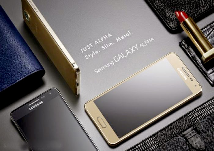 Samsung Galaxy Alpha-Metal framed Smartphone