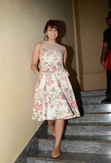 Huma Qureshi in Floral Dress Stunning Cute Beauty at Success meet of Badlapur movie