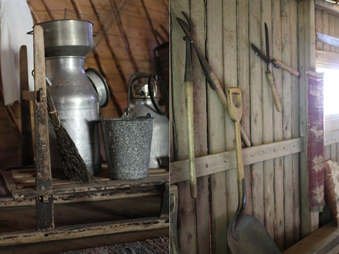 vanhoja puisia työkaluja
