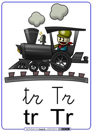 Fichas para trabajar las sílabas, tr_