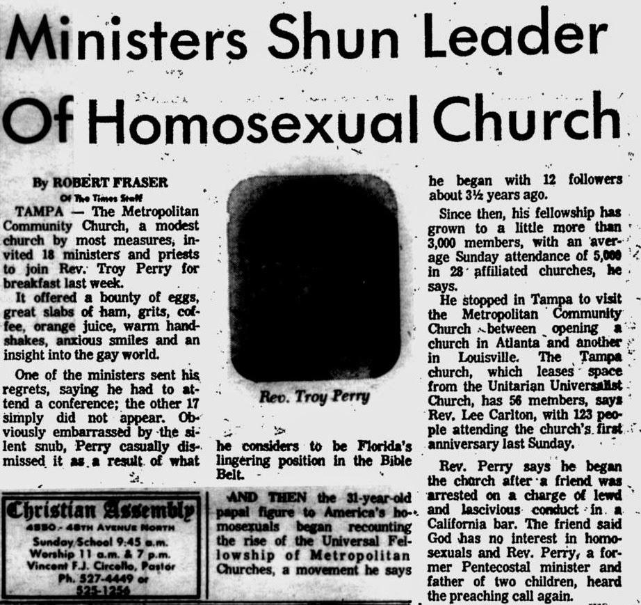 Tampa gay church rev steve