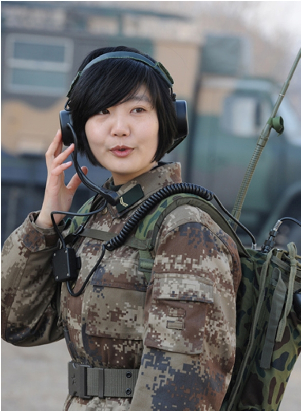 girl asian soldier
