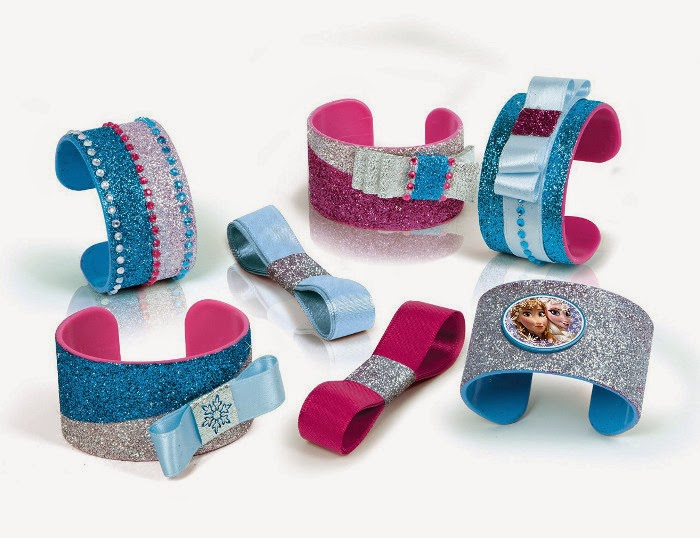 JUGUETES - DISNEY Frozen - Decora tus brazaletes  Producto Oficial 2015 | Manualidades | Clementoni 550562  A partir de 7 años