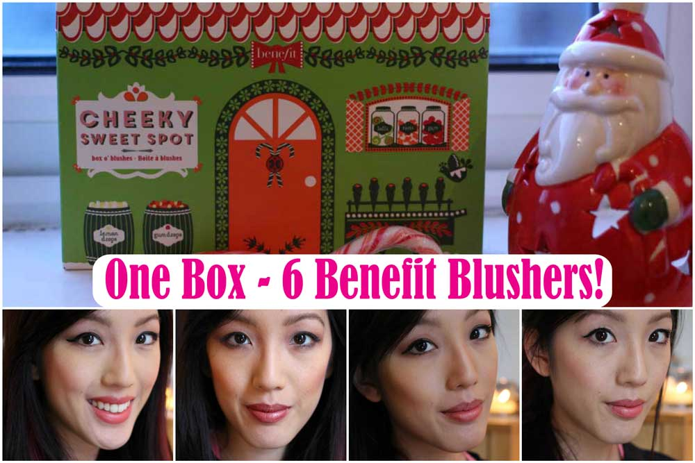 Benefit  Blusher Swatches! The Cheeky Sweet Spot Collection