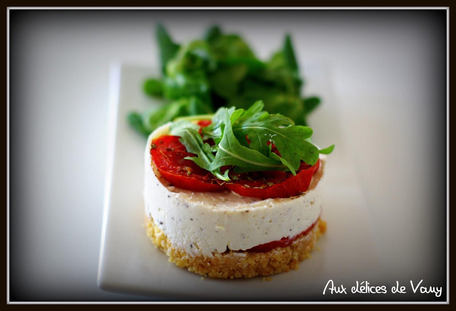 Mini cheesecake au ch vre frais et la tomate for Entree fraiche et rapide