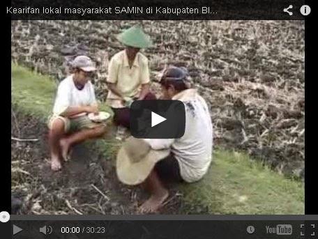 Video Kearifan Lokal Masyarakat Samin Dsn Tambak, Ds. Sumber - Kradenan