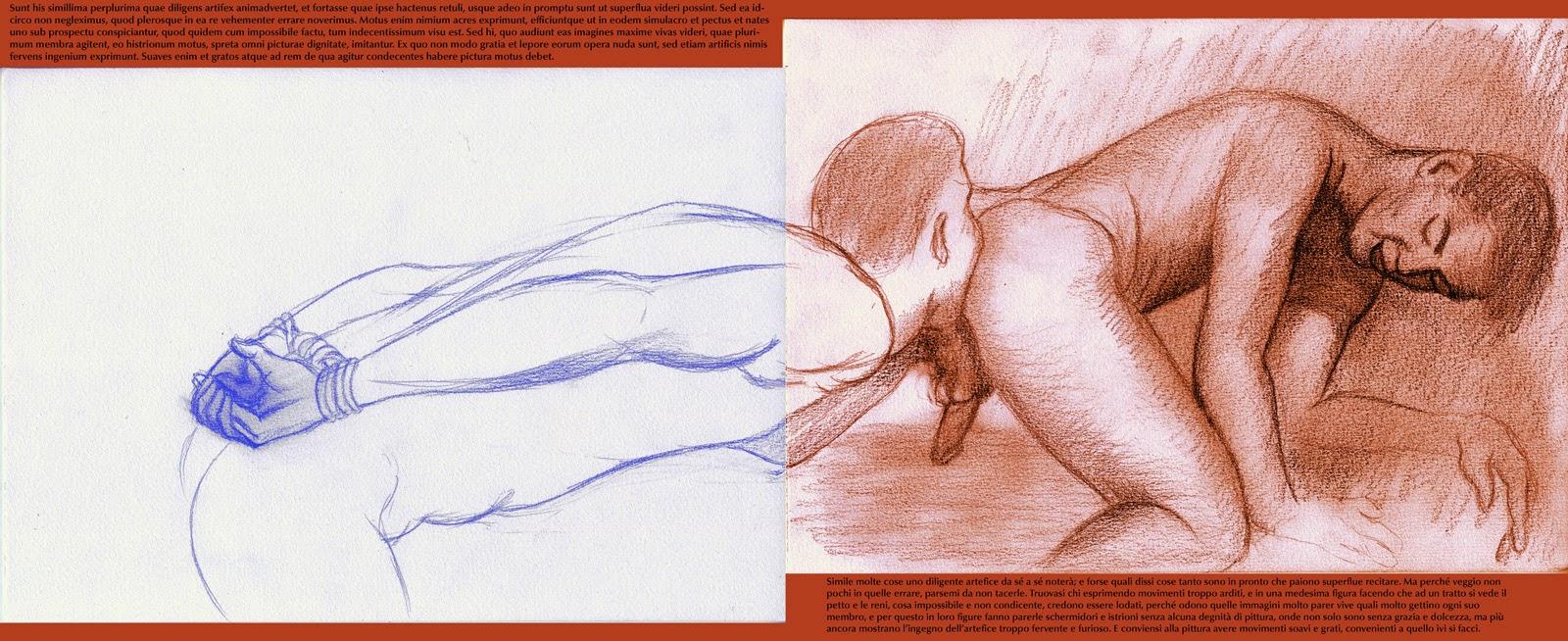 dessin pornographique anilingus gay